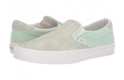 Christmas Deals 2019 - Vans Slip-On 59 (Washed Nubuck/Canvas) Pastel Green/Blanc