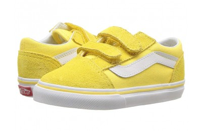 Vans Kids Old Skool V (Toddler) Aspend Gold/True White