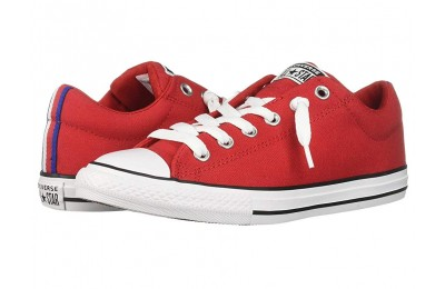 Converse Kids Chuck Taylor All Star Street Sport Webbing - Slip (Little Kid/Big Kid) Enamel Red/Black/White