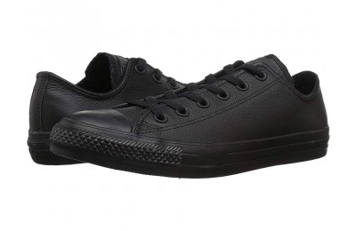 [ Hot Deals ] Converse Chuck Taylor® All Star® Leather Ox Black Mono