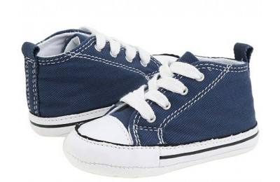 Converse Kids Chuck Taylor® First Star Core Crib (Infant/Toddler) Navy Canvas