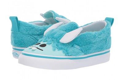 [ Hot Deals ] Vans Kids Slip-On V (Toddler) (Little Monsters) Scuba Blue/Blue Tint