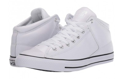 [ Hot Deals ] Converse Chuck Taylor® All Star® Hi Street Leather White/Black/White