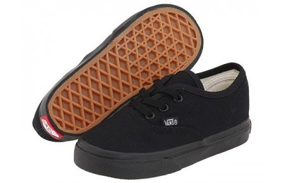 [ Hot Deals ] Vans Kids Authentic Core (Toddler) Black/Black