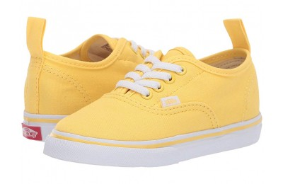 [ Hot Deals ] Vans Kids Authentic Elastic Lace (Toddler) Aspend Gold/True White