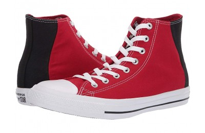 Hot Sale Converse Chuck Taylor® All Star® Color Block Patch Hi Enamel Red/Black/White