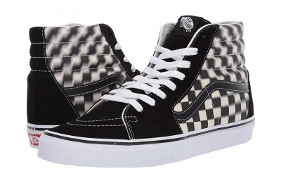 Vans SK8-Hi™ (Blur Check) Black/Classic White Black Friday Sale