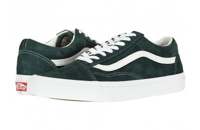 [ Black Friday 2019 ] Vans Old Skool™ (Pig Suede) Darkest Spruce/True White
