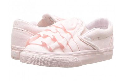 Christmas Deals 2019 - Vans Kids Classic Slip-On (Infant/Toddler) (Ruffle) Heavenly Pink