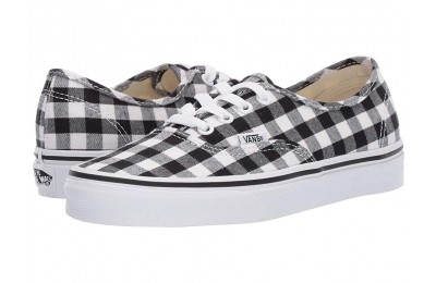 Vans Authentic™ (Gingham) Black/True White Black Friday Sale