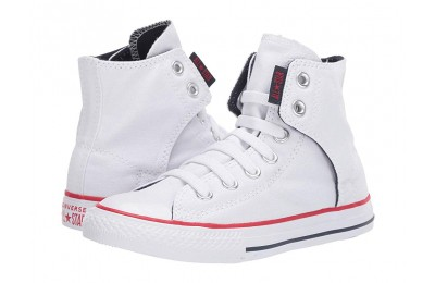 Converse Kids Chuck Taylor® All Star® Easy Slip (Little Kid/Big Kid) White/Navy/Red