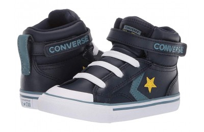 Christmas Deals 2019 - Converse Kids Pro Blaze Strap - Hi (Infant/Toddler) Obsidian/Celestial Teal/Bold Citron