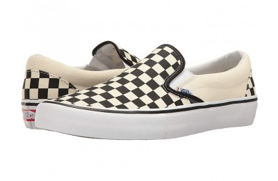 Vans Slip-On Pro (Checkerboard) Black/White Black Friday Sale