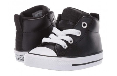 Hot Sale Converse Kids Chuck Taylor All Star Street - Mid (Infant/Toddler) Black/Black/White