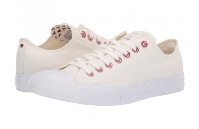 [ Hot Deals ] Converse Chuck Taylor® All Star® Hearts Ox Egret/Thubarb/White