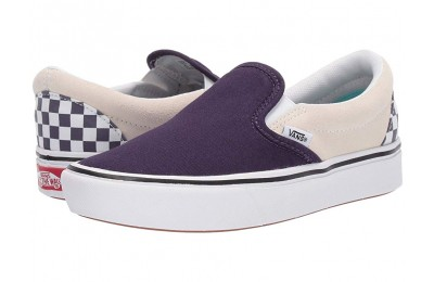 Christmas Deals 2019 - Vans ComfyCush Slip-On (Checkerboard) Mysterioso/True White