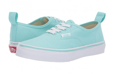 [ Hot Deals ] Vans Kids Authentic Elastic Lace (Little Kid/Big Kid) Blue Tint/True White