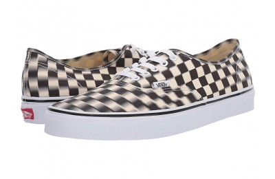 [ Hot Deals ] Vans Authentic™ (Blur Check) Black/Classic White