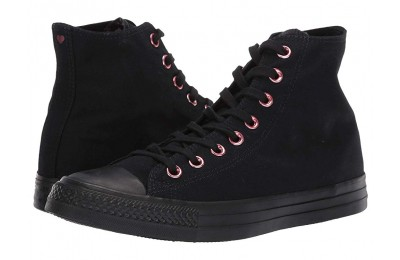 Black Friday Converse Chuck Taylor® All Star® Hearts Hi Black/Rhubarb/Black Sale