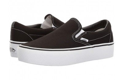 [ Hot Deals ] Vans Classic Slip-On Platform Black