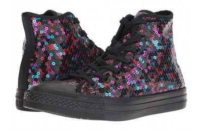[ Hot Deals ] Converse Chuck Taylor All Star Sequined - Hi Black/Blue/Cherry Red