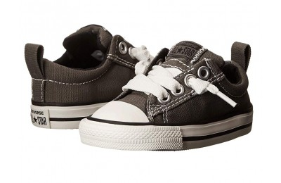[ Hot Deals ] Converse Kids Chuck Taylor® All Star® Street Ox (Infant/Toddler) Charcoal
