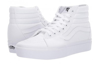 [ Black Friday 2019 ] Vans SK8-Hi Platform 2.0 True White/True White