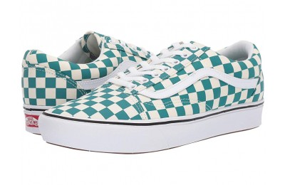 Christmas Deals 2019 - Vans Comfycush Old Skool (Checker) Quetzal/True White