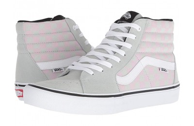 [ Hot Deals ] Vans SK8-Hi™ Pro (Checkerboard) Smoke/Violet Ice