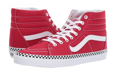[ Hot Deals ] Vans SK8-Hi™ (Check Foxing) Racing Red/True White