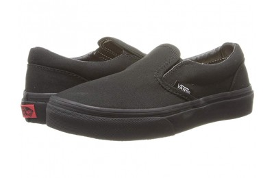 Christmas Deals 2019 - Vans Kids Classic Slip-On (Little Kid/Big Kid) Black/Black