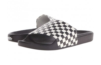 Vans Slide-On (Checkerboard) White