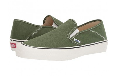 [ Black Friday 2019 ] Vans Slip-On SF (Salt Wash) Garden Green/Marshmallow