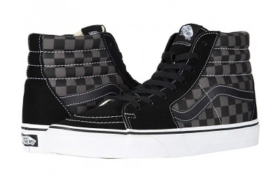 [ Black Friday 2019 ] Vans SK8-Hi™ Core Classics (Checkerboard) Black/Pewter