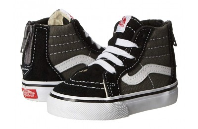 Vans Kids Sk8-Hi Zip (Toddler) (2 Tone) Black/Charcoal