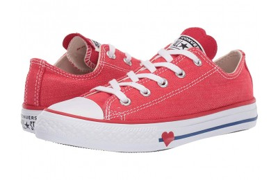 Christmas Deals 2019 - Converse Kids Chuck Taylor All Star Denim Love - Ox (Little Kid) Sedona Red/Enamel Red/Blue