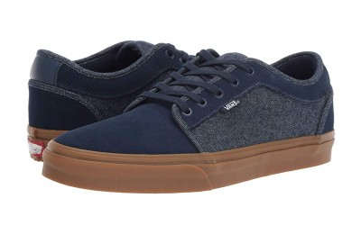 [ Hot Deals ] Vans Chukka Low (Denim) Dress Blues/Classic Gum
