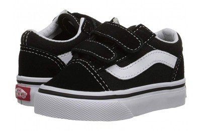Vans Kids Old Skool V Core(Toddler) Black Black Friday Sale