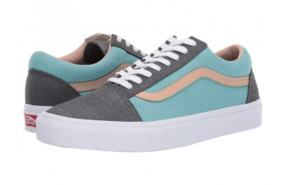[ Hot Deals ] Vans Old Skool™ (Textured Suede) Pewter/Aqua Haze