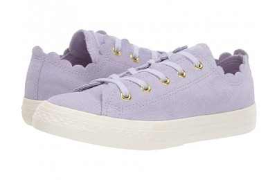 [ Hot Deals ] Converse Kids Chuck Taylor® All Star® Scalloped Suede - Ox (Little Kid) Oxygen Purple/Oxygen Purple