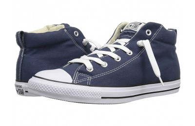 [ Hot Deals ] Converse Chuck Taylor® All Star® Street Core Canvas Mid Navy/Natural/White