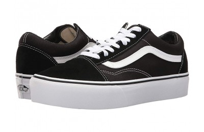 [ Hot Deals ] Vans Old Skool Platform Black/White