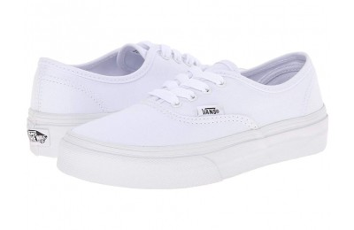 [ Hot Deals ] Vans Kids Authentic (Little Kid/Big Kid) True White