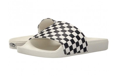 Vans Slide-On (Checkerboard) White/Black Black Friday Sale