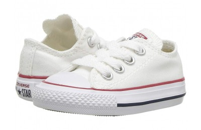 Christmas Deals 2019 - Converse Kids Chuck Taylor® All Star® Core Ox (Infant/Toddler) Optical White