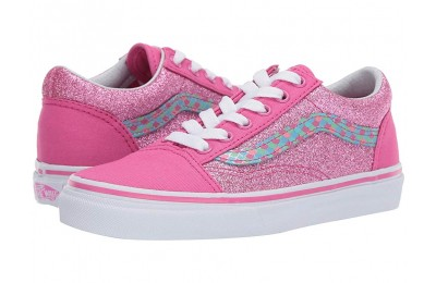 [ Hot Deals ] Vans Kids Old Skool (Little Kid/Big Kid) (Mermaid Scales) Carmine Rose/True White