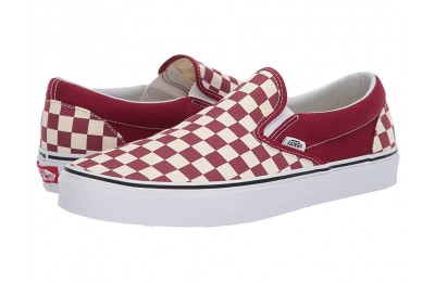 Vans Classic Slip-On™ (Checkerboard) Rumba Red/True White Black Friday Sale