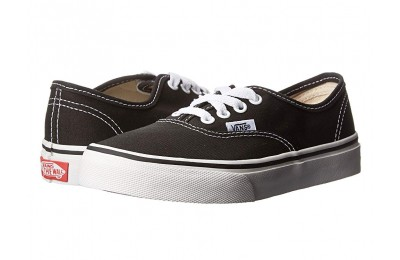 Vans Kids Authentic (Little Kid/Big Kid) Black/True White Black Friday Sale