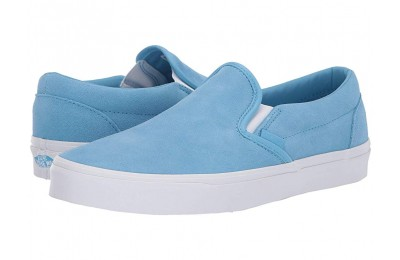 [ Hot Deals ] Vans Classic Slip-On™ (Soft Suede) Alaskan Blue/True White