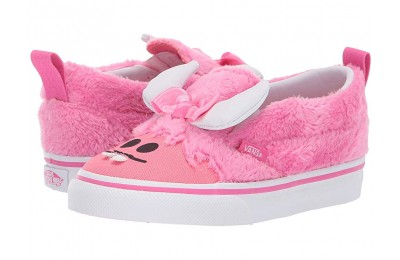 [ Hot Deals ] Vans Kids Slip-On V (Toddler) (Little Monsters) Carmine Rose/Strawberry Pink